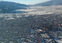 Зимна снимка на град Банско